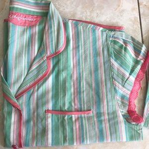 Cyber Jammies 2 piece pajamas pastel striped 12